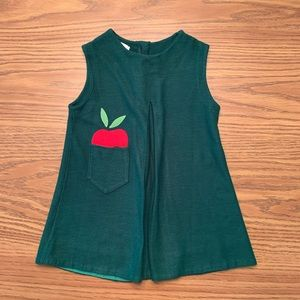 Vintage   Knit Apple Dress, 4T
